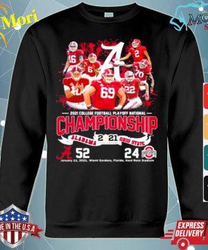 2021 College Football Playoff National Championship Alabama Win Ohio State s hoodie
