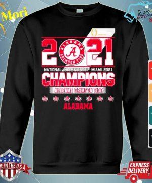 2021 National Championship Miami Alabama Crimson Tide s hoodie