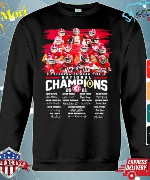 Alabama Crimson Tide College Football Playoff National Champions 2021 Signature s hoodie