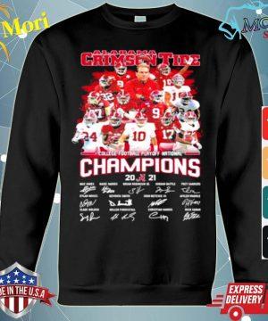 Alabama Crimson Tide Football Playoff National Champions 2021 Signature s hoodie