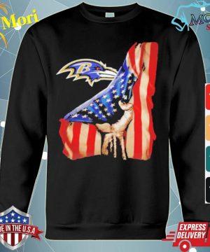 Baltimore ravens american flag s hoodie