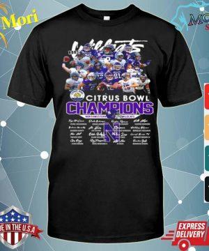 Citrus Bowl Champions Northwestern Wildcats Signatures shirt